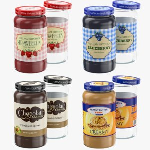 glass jar products 3D