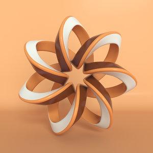 3D shape sculpture art model