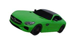 3D model mercedes amg gt