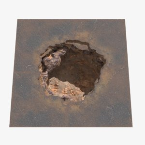 hole asphalt 3D model