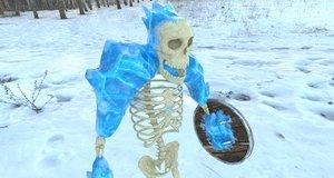 skeleton rigged printing model