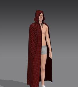 3D model cape clothing