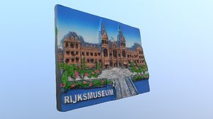 rijksmuseum amsterdam magnet souvenir 3D model