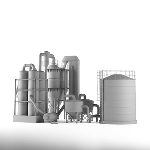 3D industrial gasification plant model