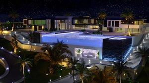 3D modern luxury house