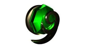 3D kokiri emerald model