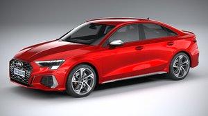 3D audi s3 sedan