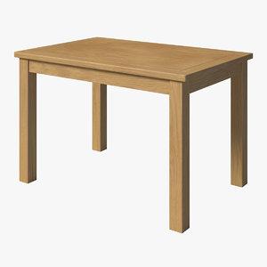 oak dining 3D model
