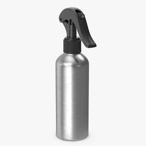 3D spray bottle aluminum black