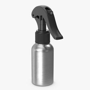 spray bottle aluminum black 3D model