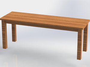 bench wooden 3D model