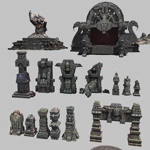 3D ancient statue