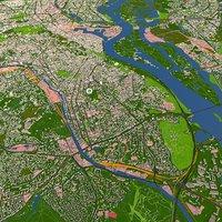 Kiew Kyiv City of Ukraine Aug 2020 3d model