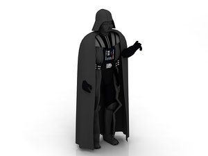 3D black character darth vader model