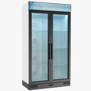 real commercial fridge 3D