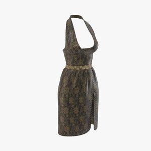 3D gown dress model