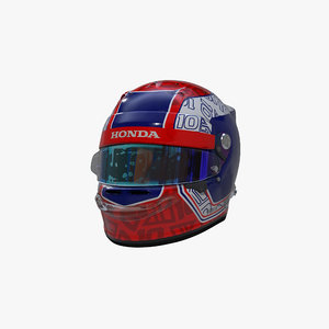 gasly 2020 helmet 3D model