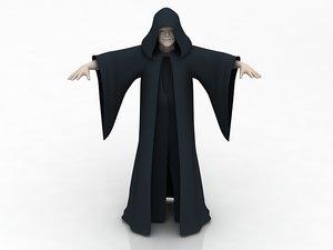 3D jawa character alien emperor