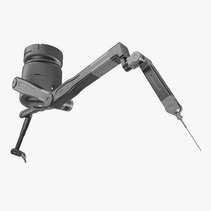 sci-fi robot hand black 3D model