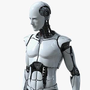 male cyborg elettron character model