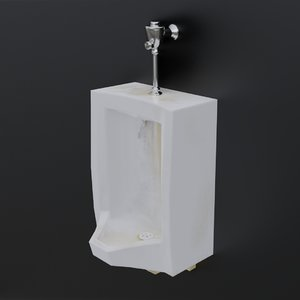 3D model dirty urinal