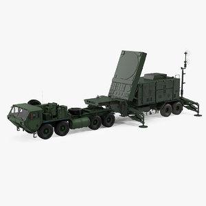 3D hemtt m985 patriot mpq53 model