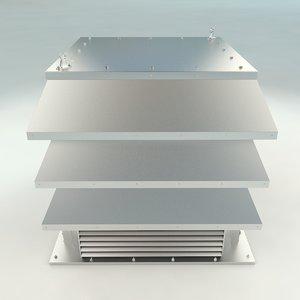 3D roof ventilation exterior architecture model