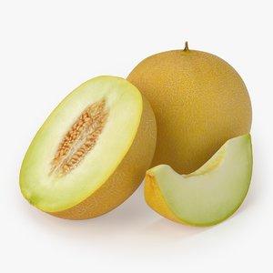 melon cantaloupe honeydew 3D