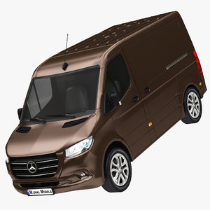 3D realistic mercedes sprinter fwd model