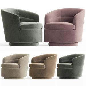 3D viv swivel chair westelm model
