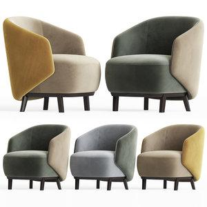 3D concha armchair