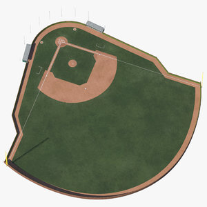 baseball field brick wall model