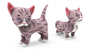 cartoon cat rigged model