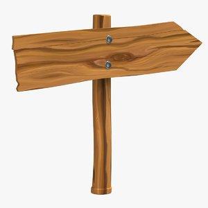 3D wooden arrow sign