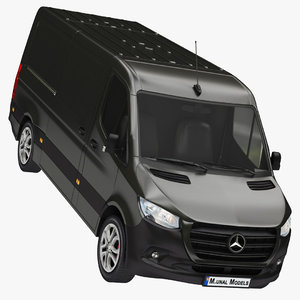 realistic mercedes sprinter rwd 3D model