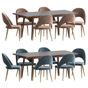 3D model modrest set dinning