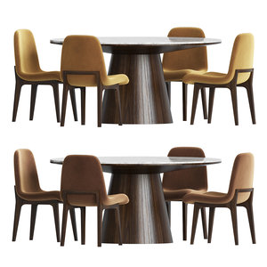 3D chair dinning table