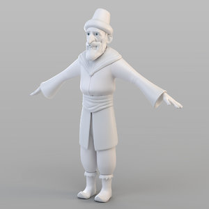 3D ottoman old man