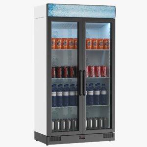 real commercial fridge 3D model