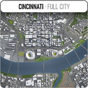 city cincinnati surrounding area 3D model