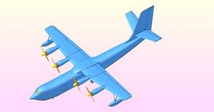 3D china ag600 flying boat model
