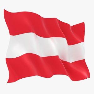 realistic austria flag 3D