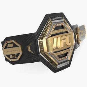 3D model ufc champion belt