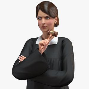 3D female magistrate
