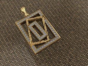 3D jewellery necklace pendant
