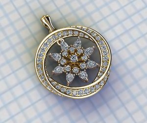 3D model jewellery necklace pendant
