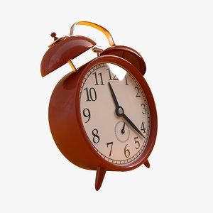 retro alarm clock octane 3D model