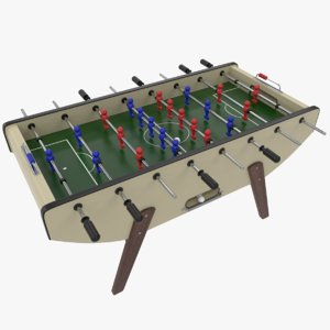 foosball table sport balls 3D model