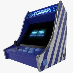 3D model classic bartop arcade games