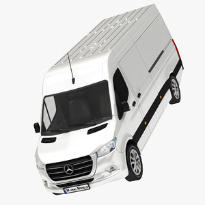 realistic mercedes sprinter l3 3D model